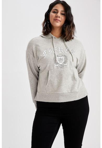 DeFacto Mintás pulóver kapucnival női