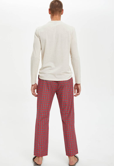 DeFacto Pijama cu pantaloni cu model Barbati
