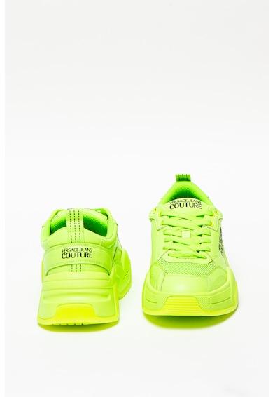 Versace Jeans Couture Pantofi sport din piele cu insertie din plasa Barbati