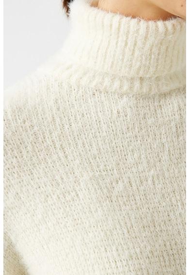 KOTON Pulover cu guler inalt si textura pufoasa Femei