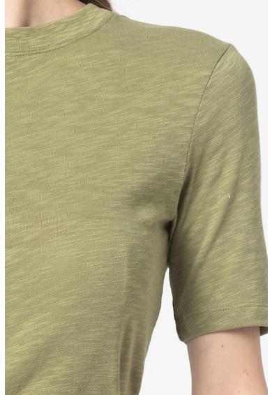Marc O'Polo Tricou de bumbac cu decolteu la baza gatului Femei