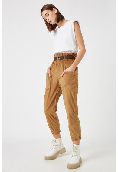 KOTON Pantaloni de reiat cu buzunare aplicate Femei