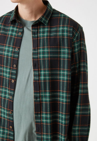 KOTON Риза на каре с памук Мъже