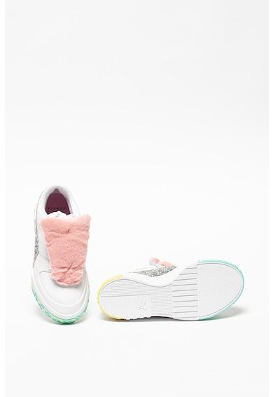 Puma Pantofi sport de piele cu aplicatii de blana sintetica si aplicatii stralucitoare RS-x Femei