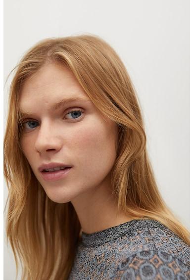 Mango Nico finomkötött mintás pulóver női