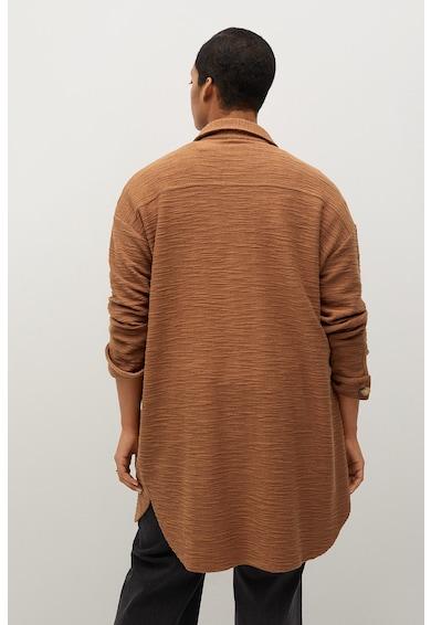 VIOLETA BY MANGO Jacheta tip camasa cu model texturat Roberta Femei