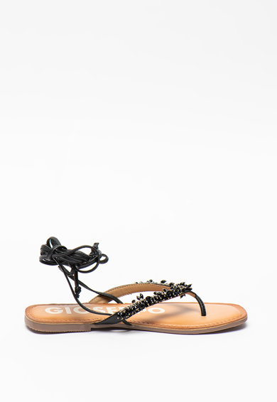 Gioseppo Sandale de piele cu bareta separatoare si margele Eileen Femei