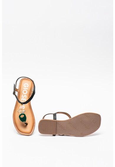 Gioseppo Sandale de piele cu bareta separatoare si margele Taveta Femei