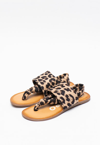 Gioseppo Sandale cu bareta separatoare si animal print Ashfor Femei