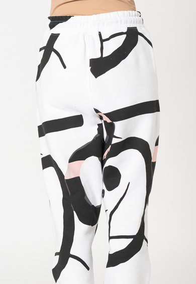 Missguided Pantaloni sport cu model abstract Femei