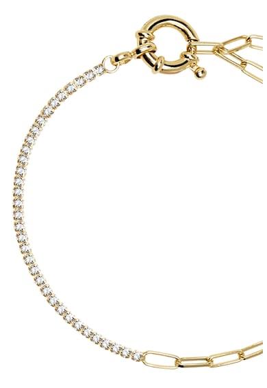 PDPAOLA Bratara de argint placat cu aur de 18K, cu zirconia Femei