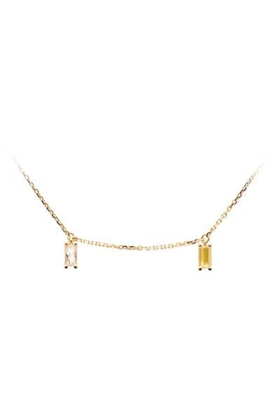 PDPAOLA Colier de argint veritabil placat cu aur de 18K Femei