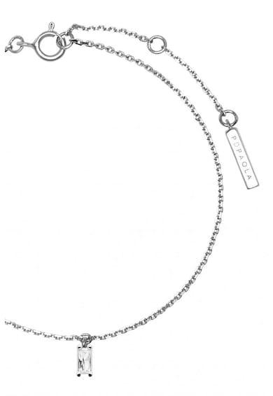 PDPAOLA Bratara de argint veritabil cu zirconia Asana Femei