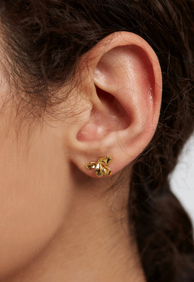 PDPAOLA Cercei placati cu aur de 18K cu tija Narcise Femei