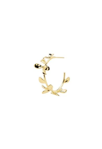 PDPAOLA Cercei rotunzi cu tija, placati cu aur de 18 K Lily Femei