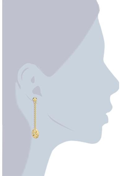 Highstreet Jewels Cercei drop placati cu aur, cu model lant, tija si cristale Femei