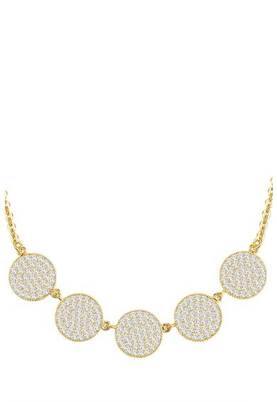 Highstreet Jewels Colier tip lant placat cu aur, cu cristale si pandantive Femei