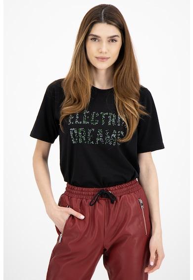 Silvian Heach Collection Tricou cu model text Femei