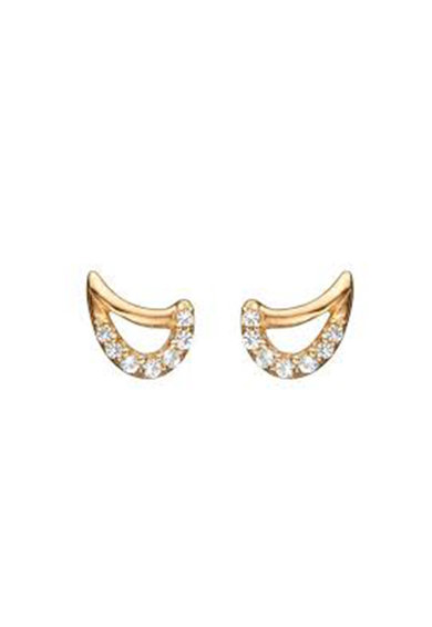 Christina Jewelry&Watches Cercei de argint veritabil 925 placati cu aur de 18K Femei