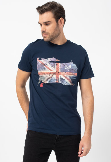 Pepe Jeans London Tricou cu imprimeu grafic Sid Barbati