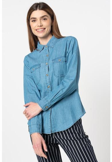 Haily's Camasa de denim cu buzunare pe piept Allia Femei