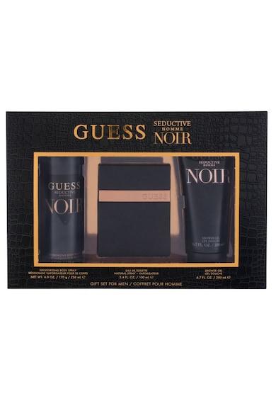Guess Set  Seductive Homme Noir, Barbati: Apa de Toaleta, 100 ml + Gel de dus, 200 ml + Deodorant Spary, 226 ml Barbati