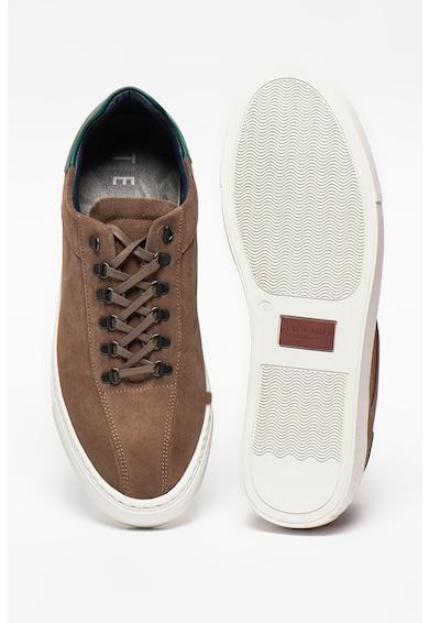 Ted Baker Pantofi sport din piele intoarsa cu insertie din piele Sontis Barbati