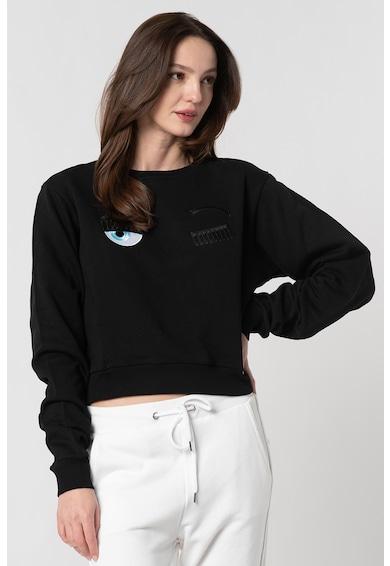 CHIARA FERRAGNI Bluza sport crop cu detalii brodate Femei