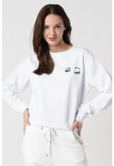 CHIARA FERRAGNI Bluza cu decolteu la baza gatului si detalii brodate Femei