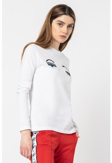 CHIARA FERRAGNI Bluza cu decolteu la baza gatului cu detalii brodate Femei