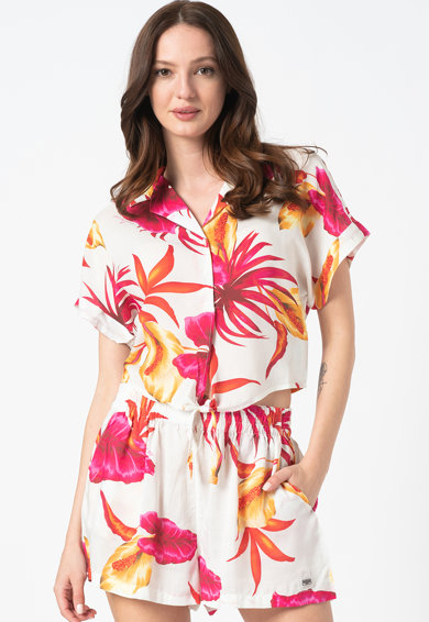 Guess Camasa de plaja cu imprimeu tropical Femei