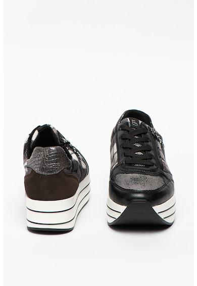s.Oliver Pantofi sport cu platforma de piele cu insertii de plasa Femei