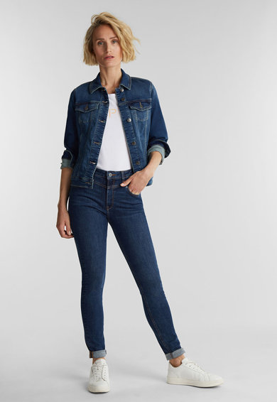 Esprit Jacheta tailored fit din denim Femei