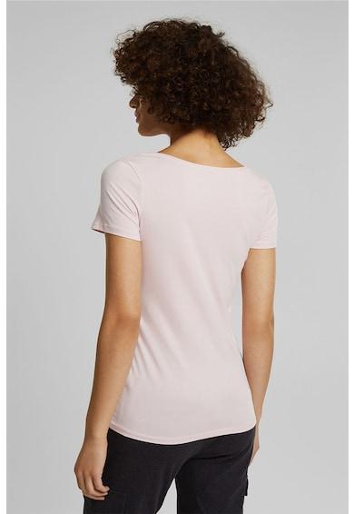 Esprit Tricou din amestec de bumbac organic cu decolteu rotund Femei