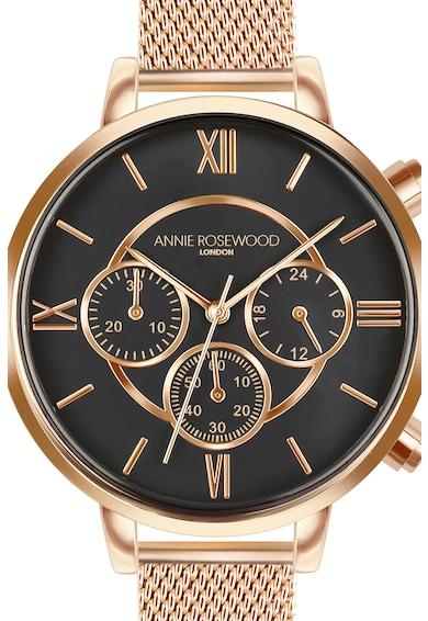 Annie Rosewood Ceas cronograf cu bratara cu model plasa Femei