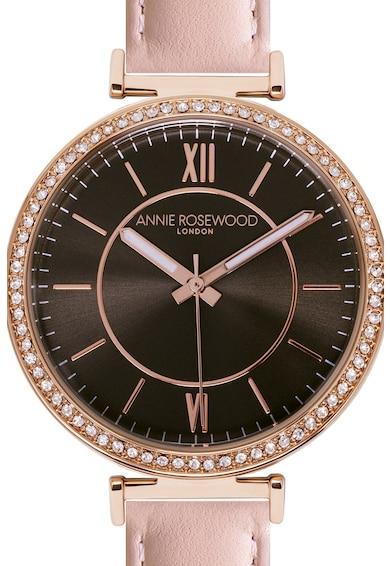 Annie Rosewood Ceas cu o curea de piele si cristale Femei