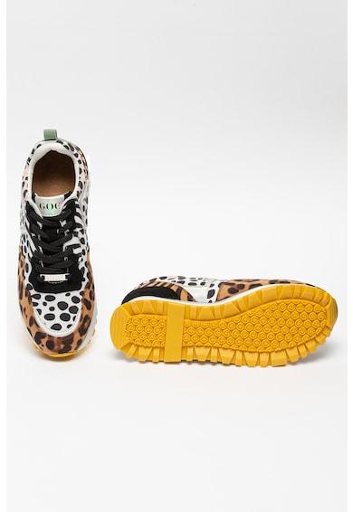 GOE Pantofi sport wedge cu animal print Femei