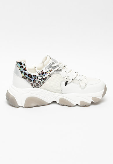 GOE Pantofi sport de piele si material textil cu design masiv Femei