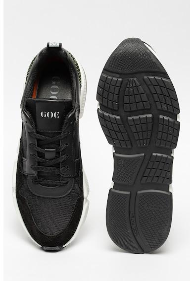GOE Pantofi sport de piele cu insertii de plasa Barbati
