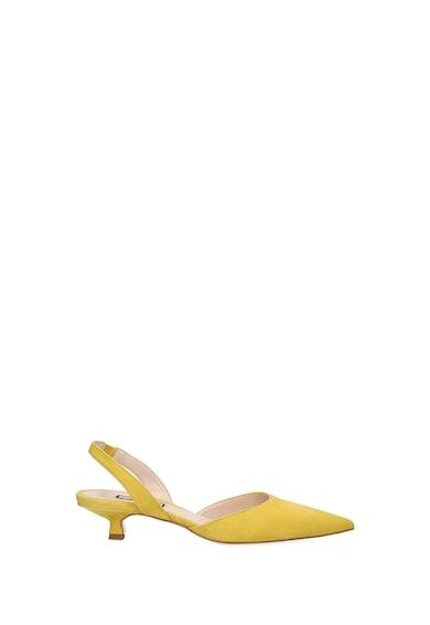 Liu Jo Pantofi din piele intoarsa cu bareta slingback si toc kitten Femei
