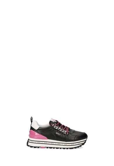 Liu Jo Pantofi sport wedge de piele cu detalii contrastante Femei