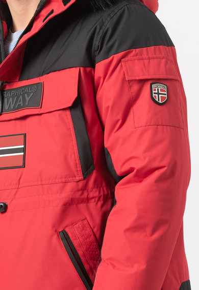 Geographical Norway Jacheta fara inchidere cu gluga si aplicatie logo Bruno Barbati