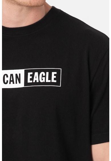 American Eagle Tricou cu decolteu la baza gatului si imprimeu logo Barbati