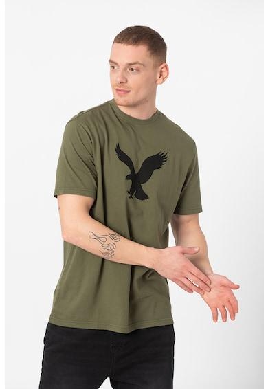 American Eagle Tricou cu decolteu la baza gatului si imprimeu Barbati
