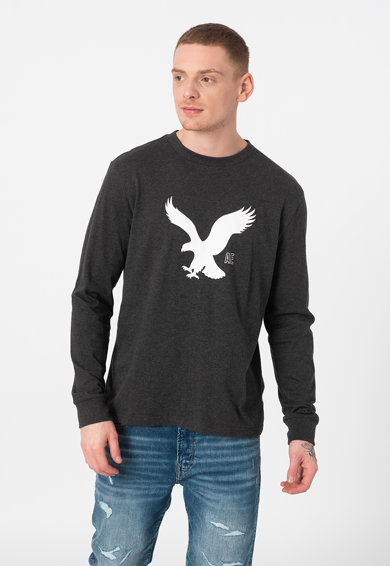 American Eagle Bluza cu imprimeu si decolteu la baza gatului Barbati