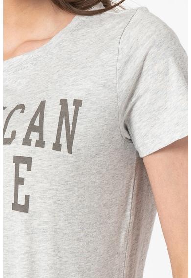 American Eagle Tricou cu decolteu la baza gatului si logo Femei