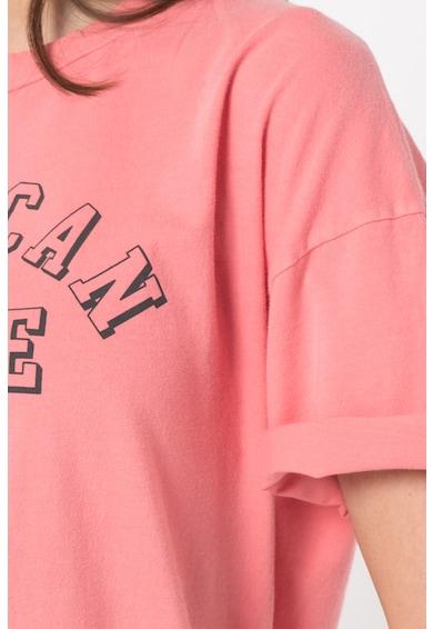 American Eagle Tricou lung cu imprimeu logo Femei