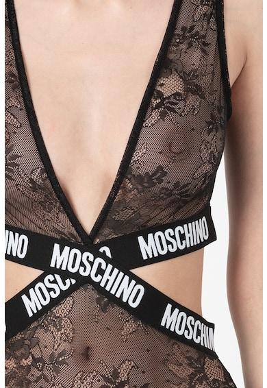 Moschino Body de dantela cu decupaje Femei
