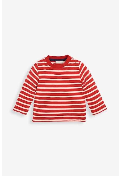 JoJo Maman Bebe Set de salopeta si bluza - 2 piese, imprimeu ren, Bleumarin/Rosu/Alb Fete