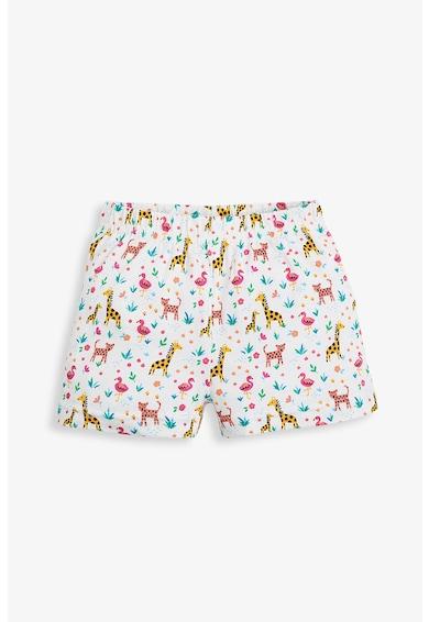 JoJo Maman Bebe Set 2 perechi de pijamale scurte, fete, cu modele variate, Multicolor Fete